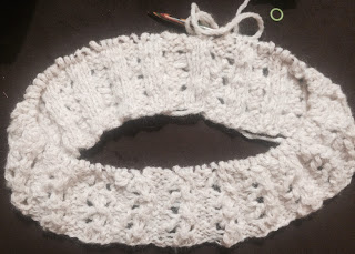Lace Cowl from Rainbow Yarn & Fibres - Day 3 1