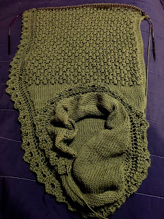Brassica Shawl from Mosaic Yarn Studio--Day 5 6