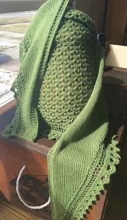 Brassica Shawl from Mosaic Yarn Studio--Done! 7