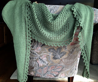 Brassica Shawl from Mosaic Yarn Studio--Done! 9