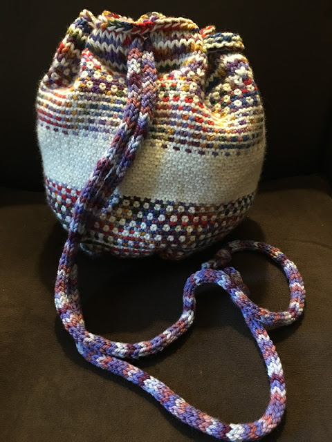 Linen Stitch Bag from Unraveled - Done! 6