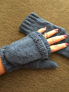 Fili Top Down Convertible Mitts from Unraveled Sheep -- Done! 12