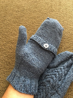 Fili Top Down Convertible Mitts from Unraveled Sheep -- Done! 10