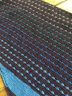 On the Spice Market Shawl from Blazing Needles - Day 3 5