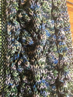 Summer's Shadow Shawl from Hemstitched Heirlooms - Day 5 6