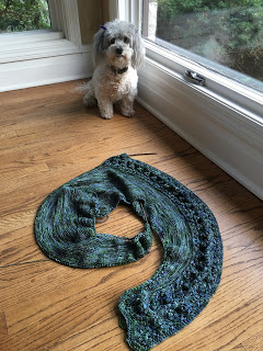 Summer's Shadow Shawl from Hemstitched Heirlooms - Day 6 7