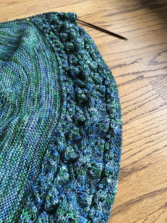 Summer's Shadow Shawl from Hemstitched Heirlooms - Day 6 3