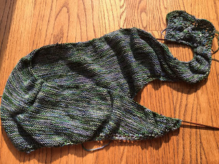Summer's Shadow Shawl from Hemstitched Heirlooms - Day 3 6