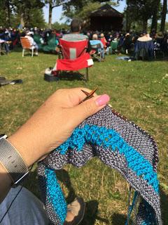 Maverick Cowl from Lucky Ewe Yarn - Day 2 9
