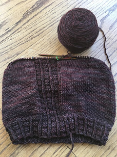 Brick Sidewalk Beanie from fibre space--Day 3 7