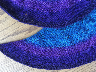 Silk Moon Crescent shawl from KnitCircus - Day 5 2